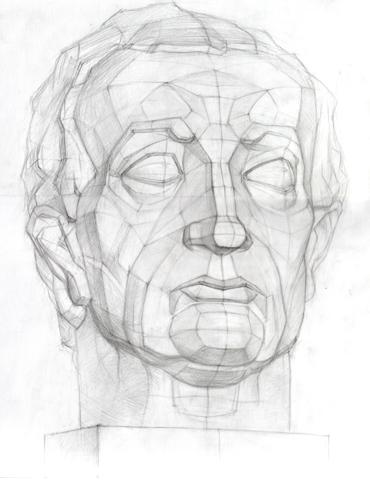 Рисунок головы гатамелата